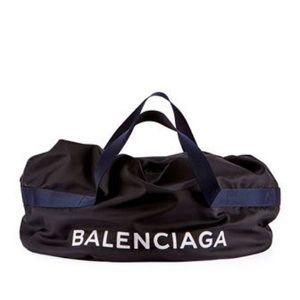 Authentic Balenciaga Logo Weekender Gym Bag